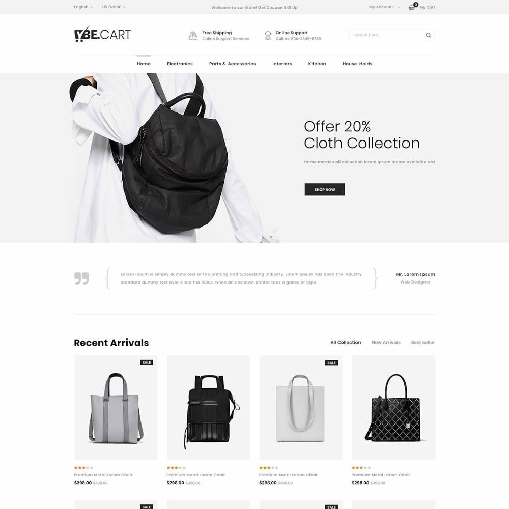 theme - Moda y Calzado - BeCart - Multipurpose Store - 9