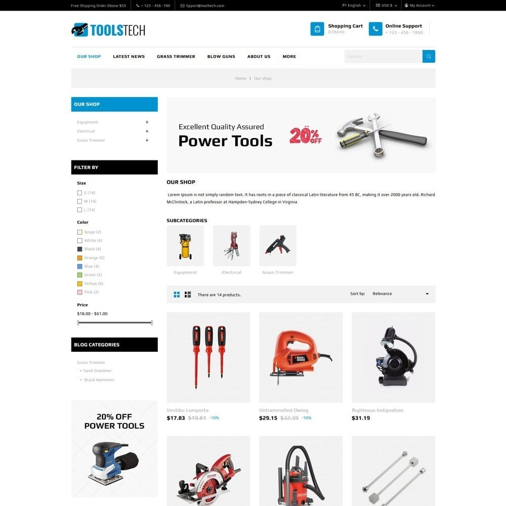 theme - Electronics & Computers - ToolTech - The Tool Store - 7