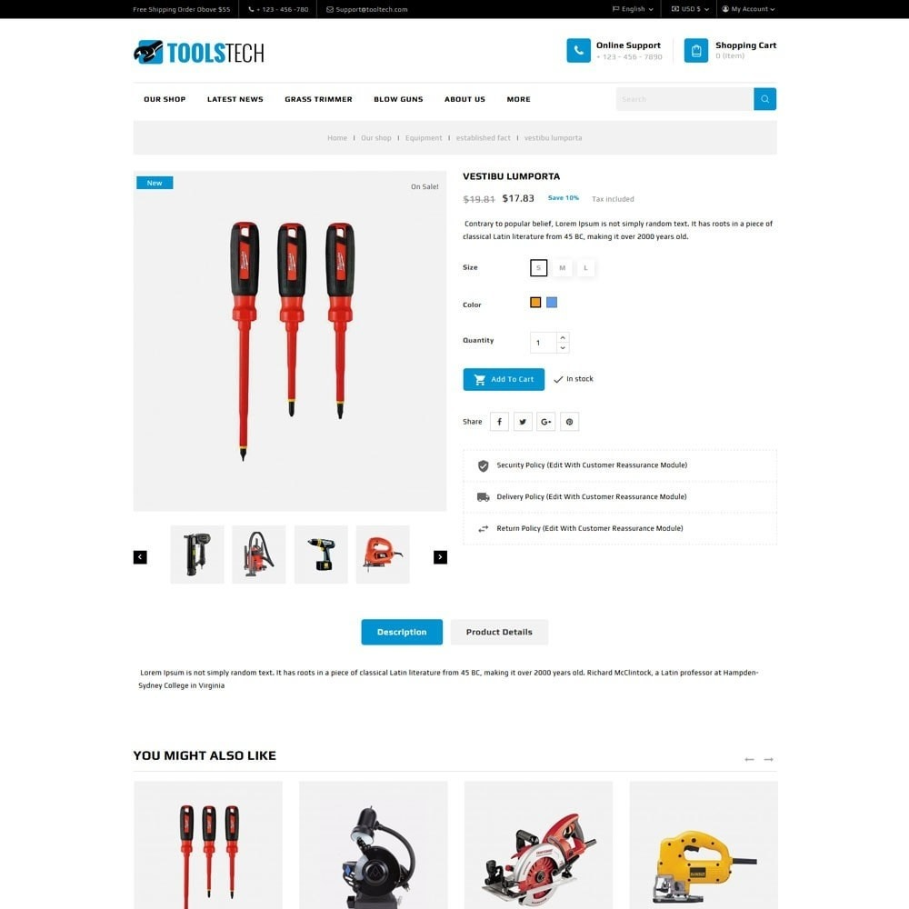 theme - Electronics & Computers - ToolTech - The Tool Store - 9