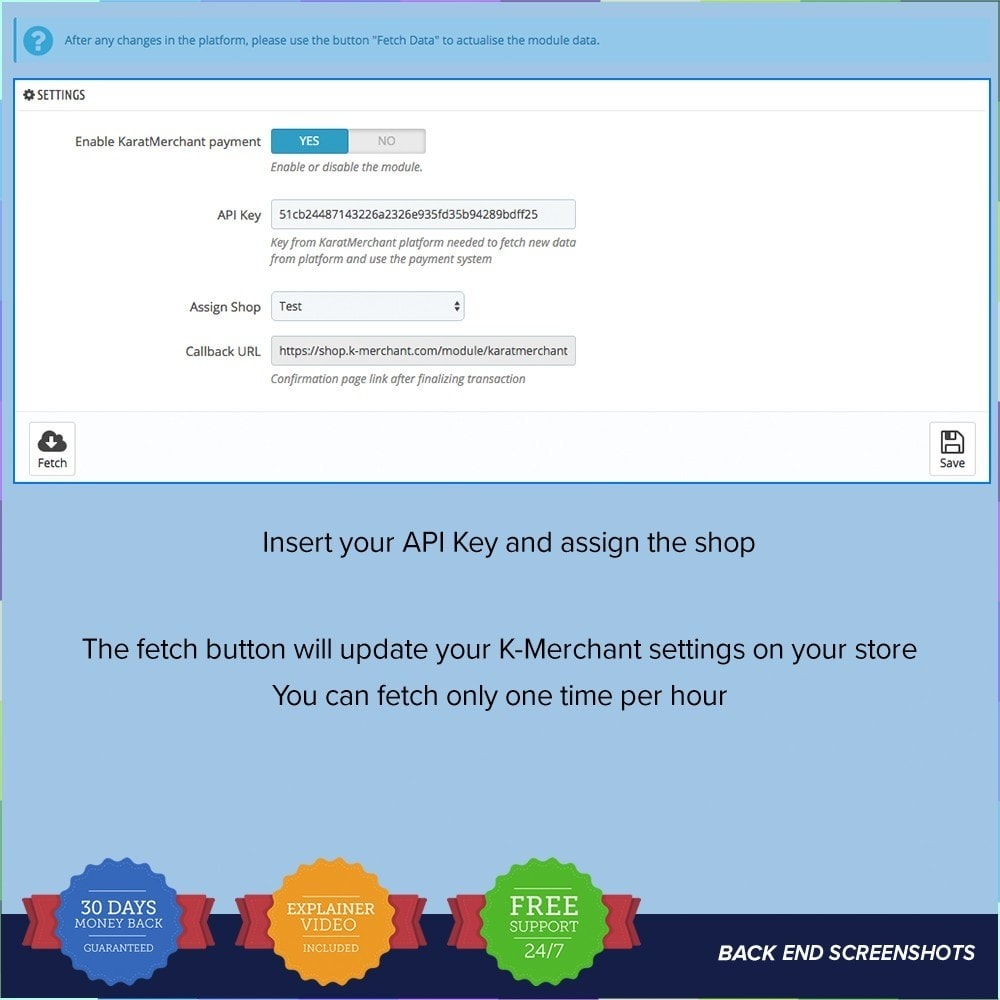 module - Altri Metodi di Pagamento - Sistema di pagamento K-Merchant - 1