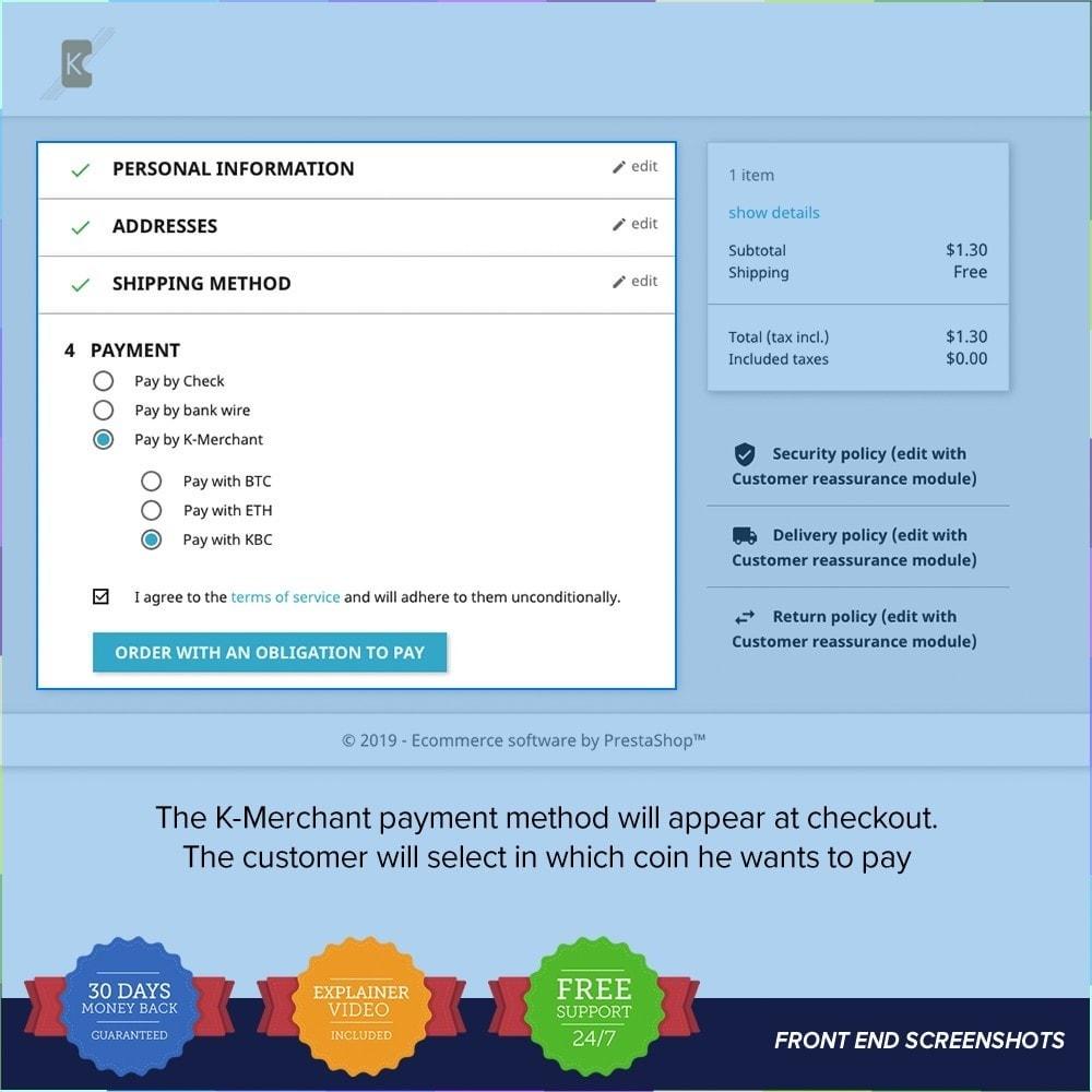module - Autres moyens de paiement - Système de paiement K-Merchant - 3