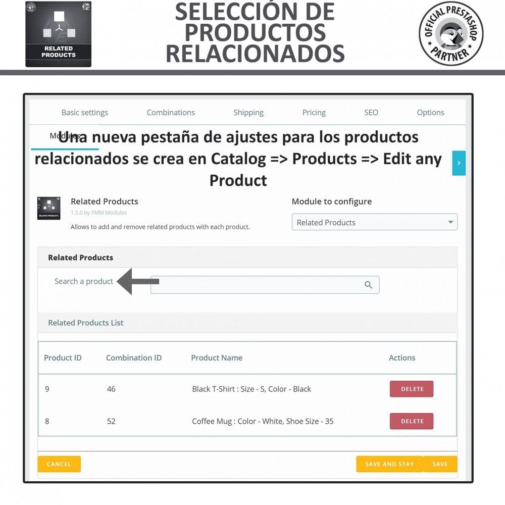 module - Ventas cruzadas y Packs de productos - Deslizador de productos relacionados / similares - 6
