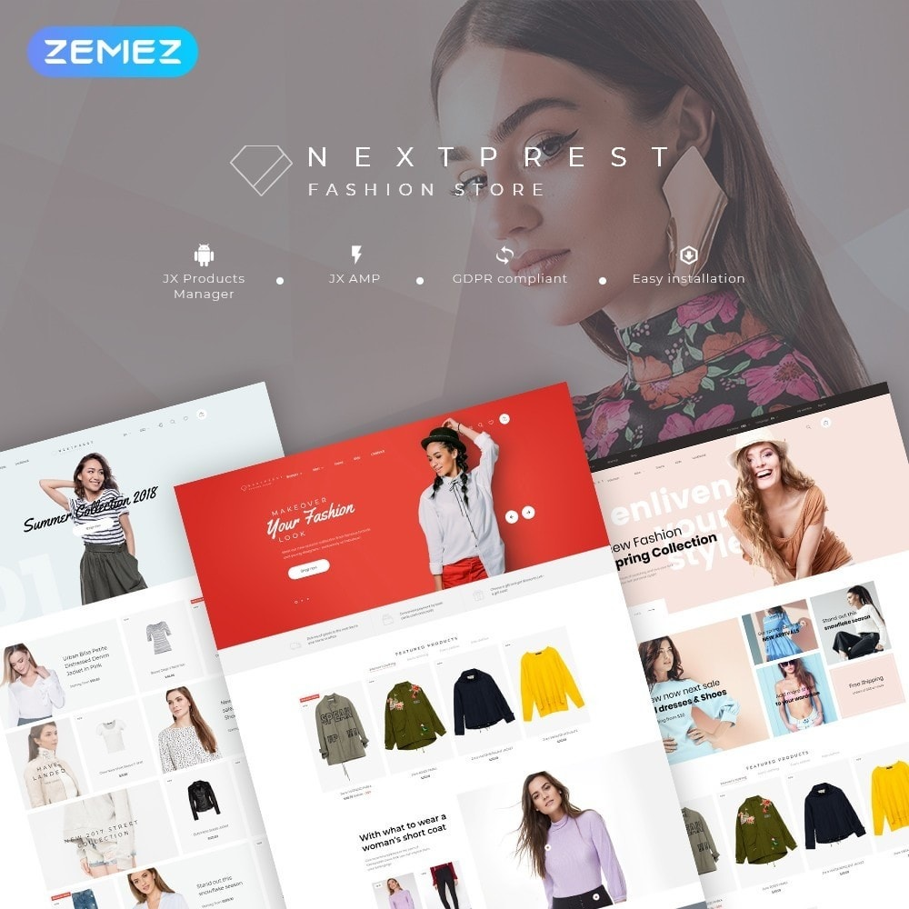 theme - Moda & Calzature - NextPrest - Fashion Store - 1