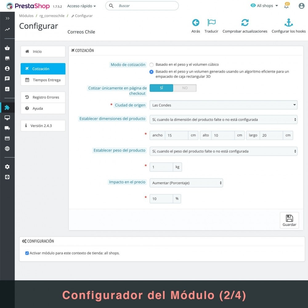 bundle - Перевозчики - Couriers (Chilexpress - Starken - Correos Chile) Pack - 4