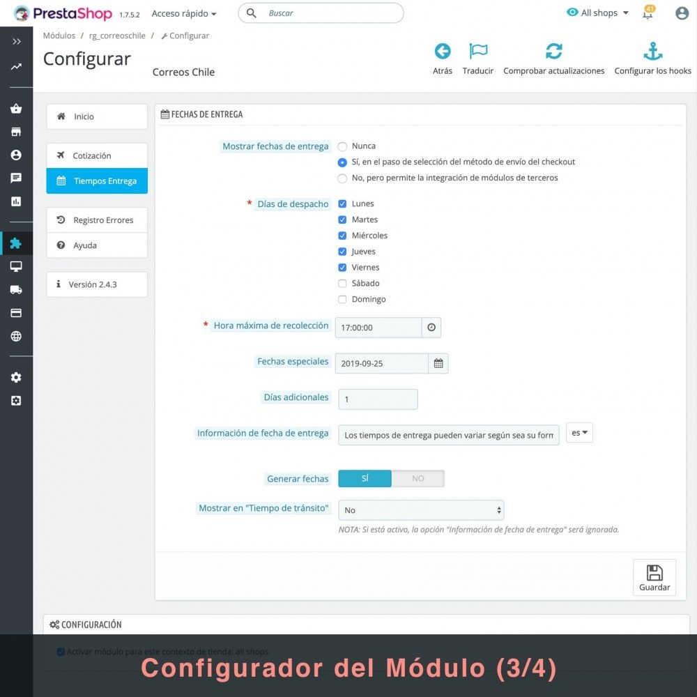 bundle - Перевозчики - Couriers (Chilexpress - Starken - Correos Chile) Pack - 5