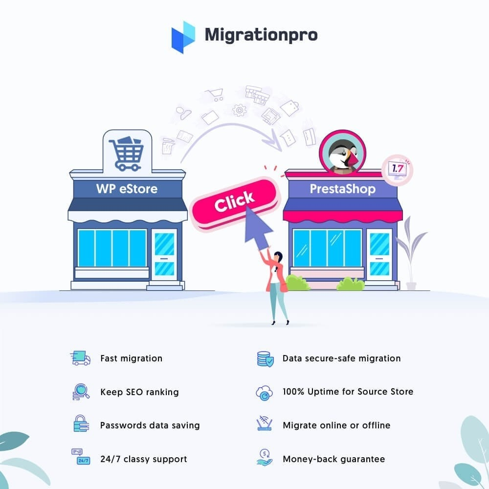 module - Migración y Copias de seguridad - MigrationPro: WP eStore to PrestaShop Migration tool - 1