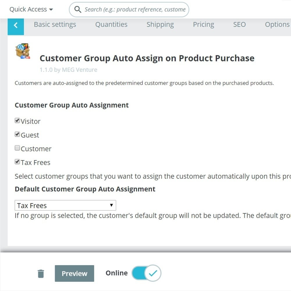 module - Gestione clienti - Customer Group Auto-Assignment upon Product Purchase - 1