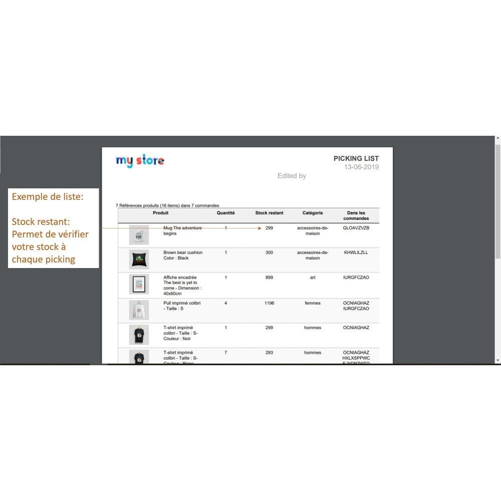 module - Préparation & Expédition - Pickinglist - liste des produits à expédier - 8