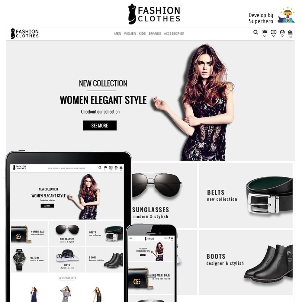 theme - Мода и обувь - Fashion Clothes Store - 1