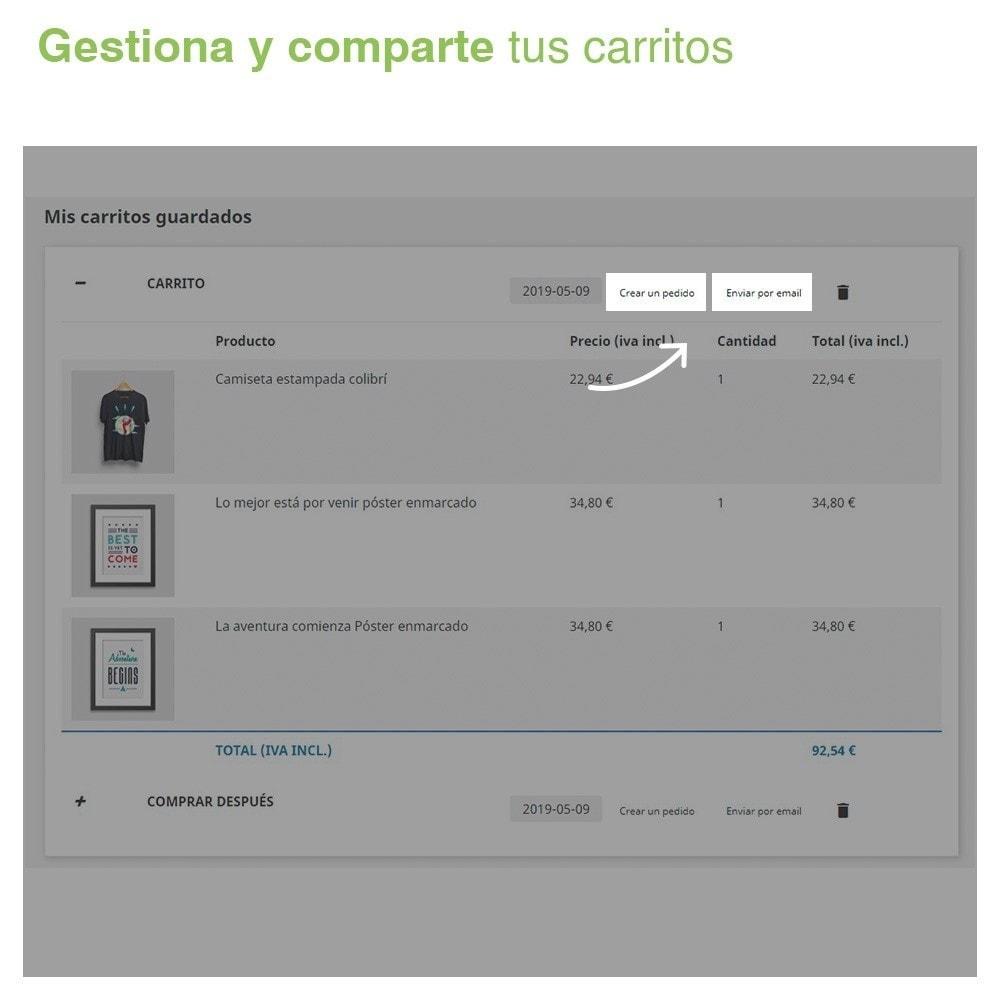 module - Gestión de Pedidos - Guarda tus carritos y envíalos por email - 4