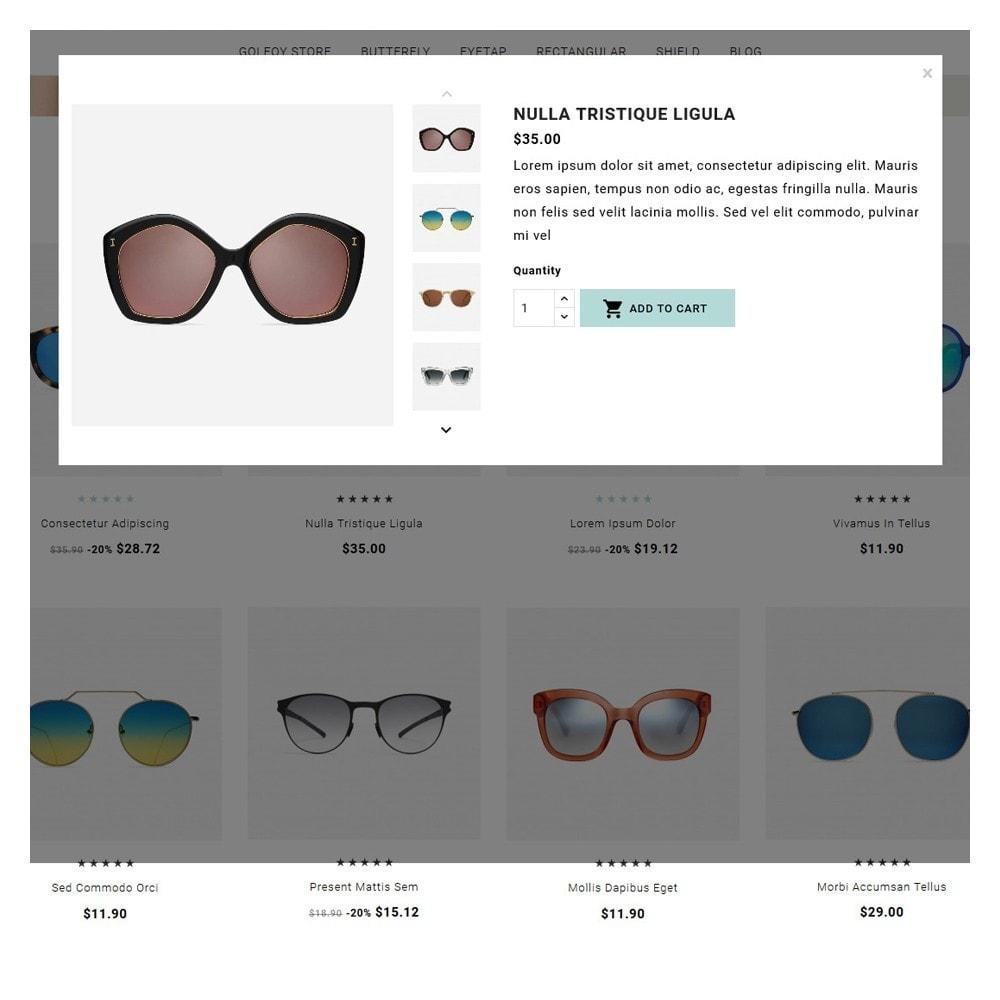 theme - Santé & Beauté - Golfoy EyeGlasses & Goggles Shop - 8