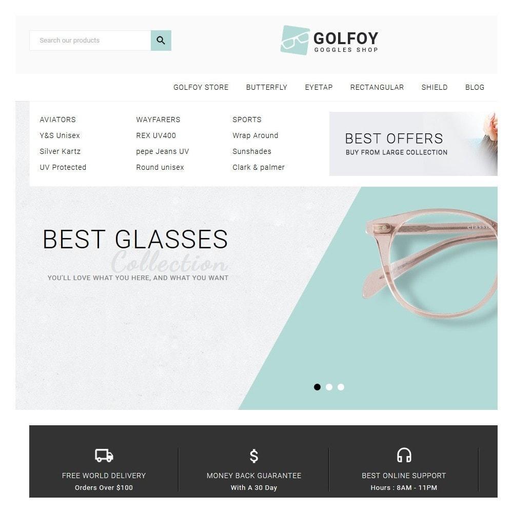 theme - Santé & Beauté - Golfoy EyeGlasses & Goggles Shop - 9
