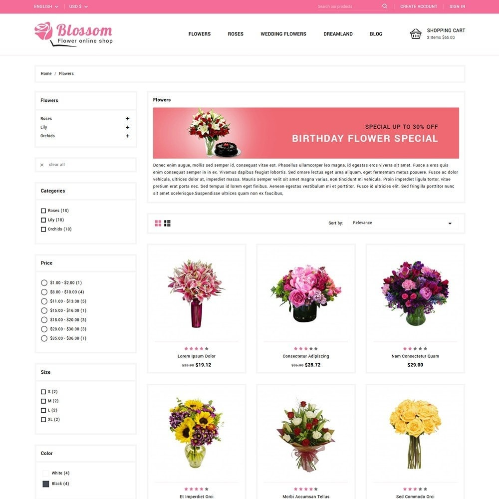 theme - Gifts, Flowers & Celebrations - Blossom Flowers & Gifts Shop - 3