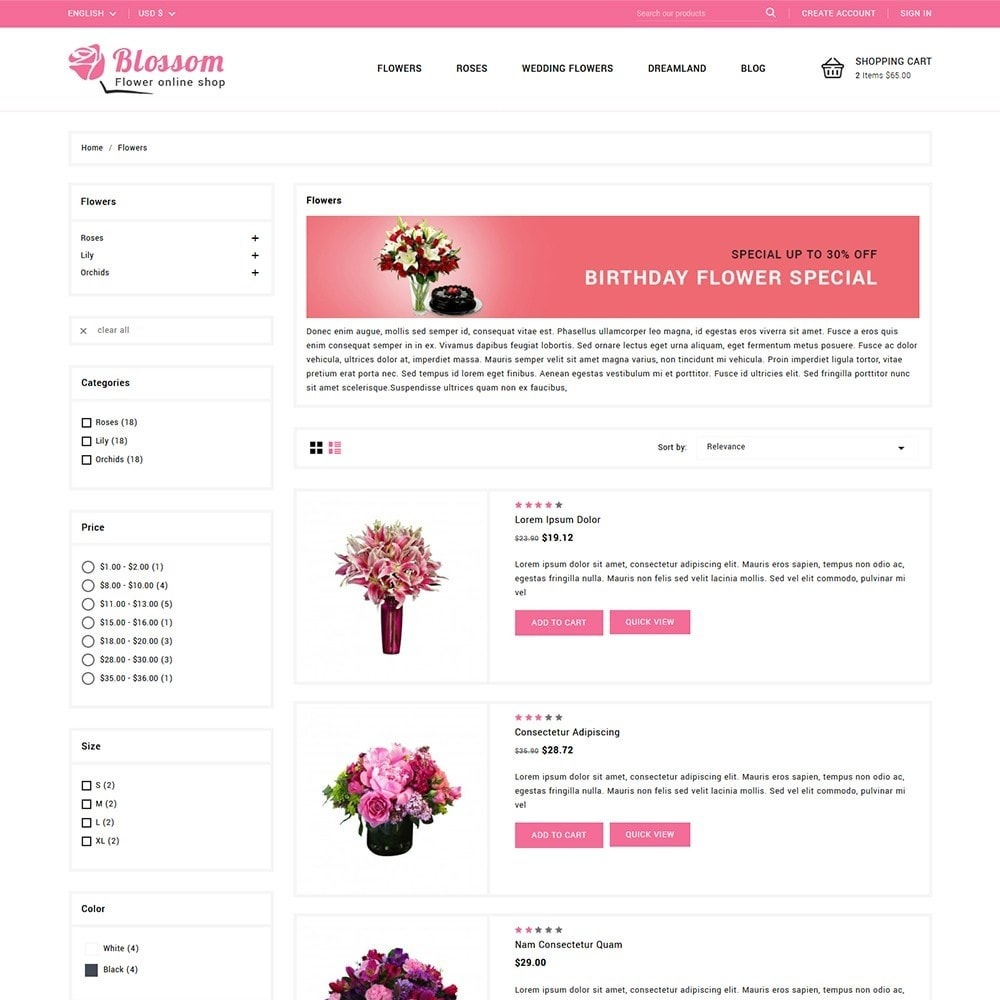 theme - Gifts, Flowers & Celebrations - Blossom Flowers & Gifts Shop - 4