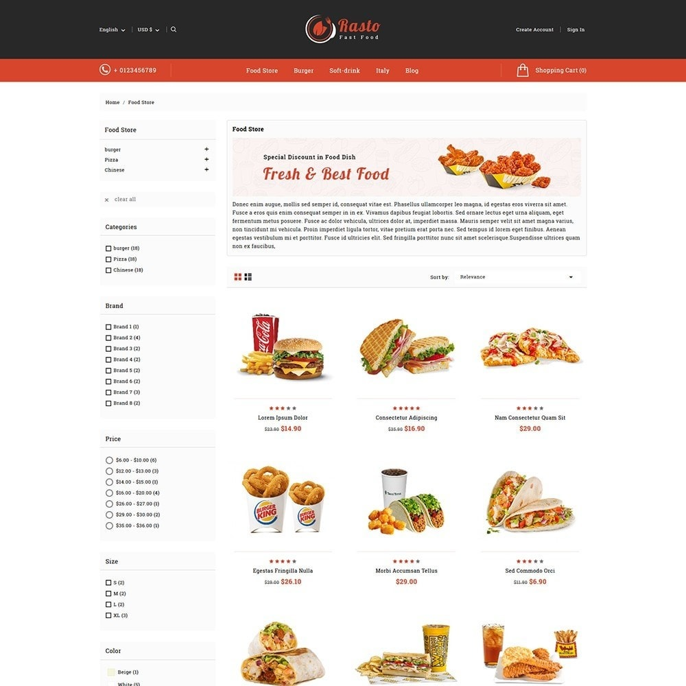 theme - Food & Restaurant - Rasto Food & Restaurant - 3