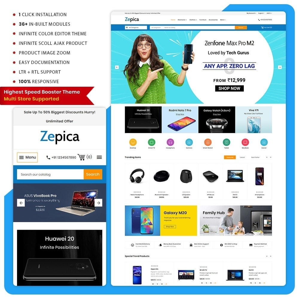 theme - Electronics & Computers - Zepica– Electronic Mega Store - 1