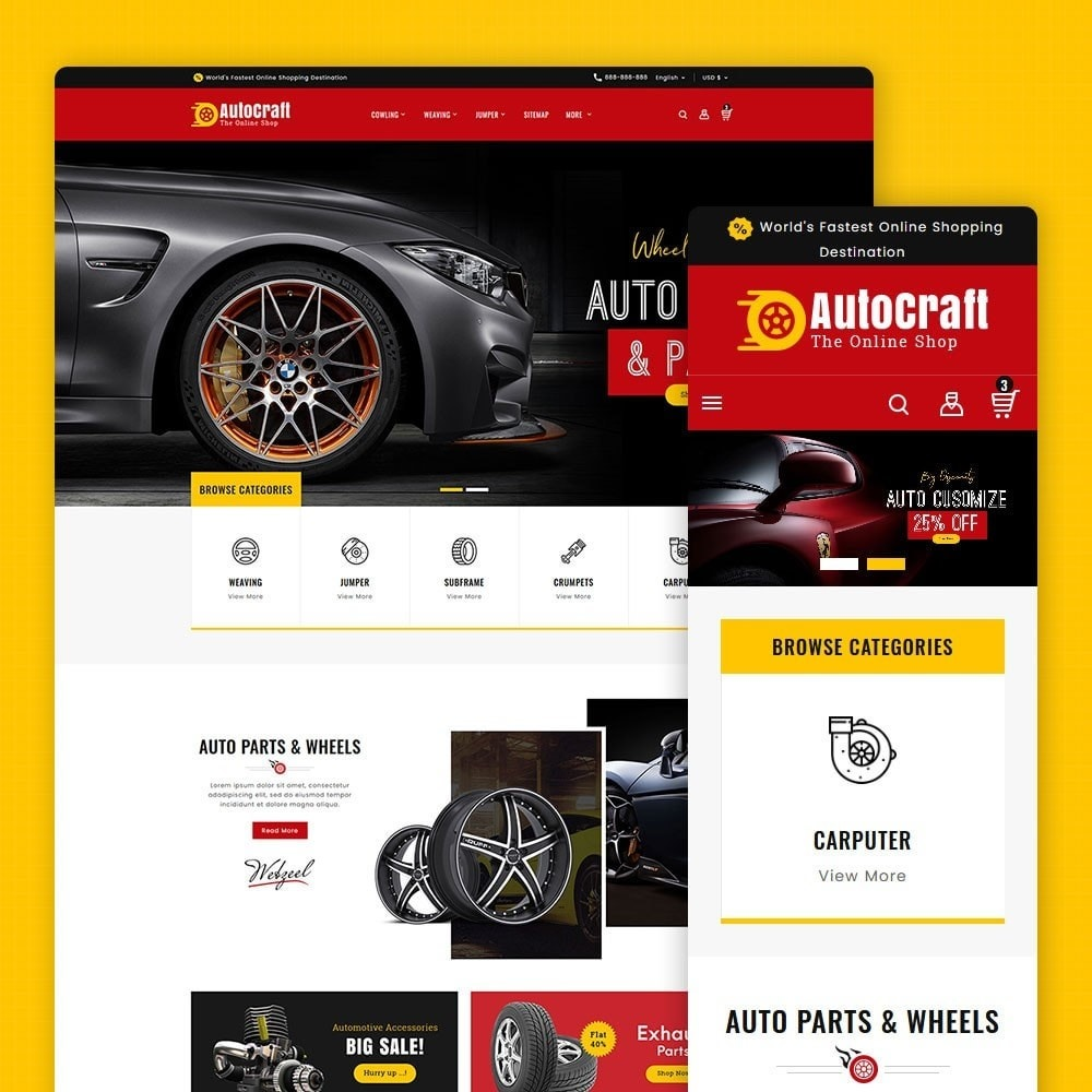 theme - Automotive & Cars - Auto Crafts & Parts - 1