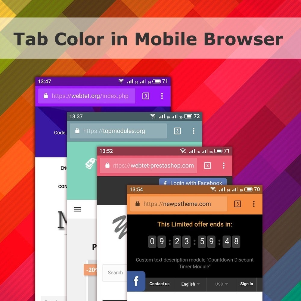 module - Page Customization - Address Bar Tab Color in Mobile Browser - 1