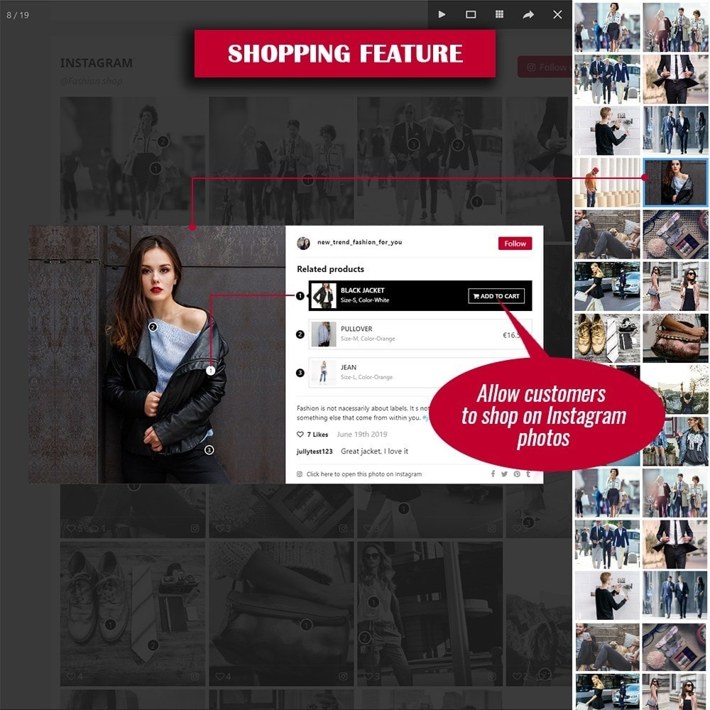 module - Слайдеров (карусельных) и галерей - INS Shopping Slider - 3