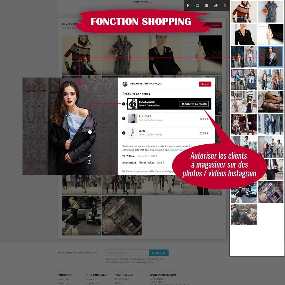 module - Sliders & Galeries - INS Shopping Slider - Intégration de réseau social - 3