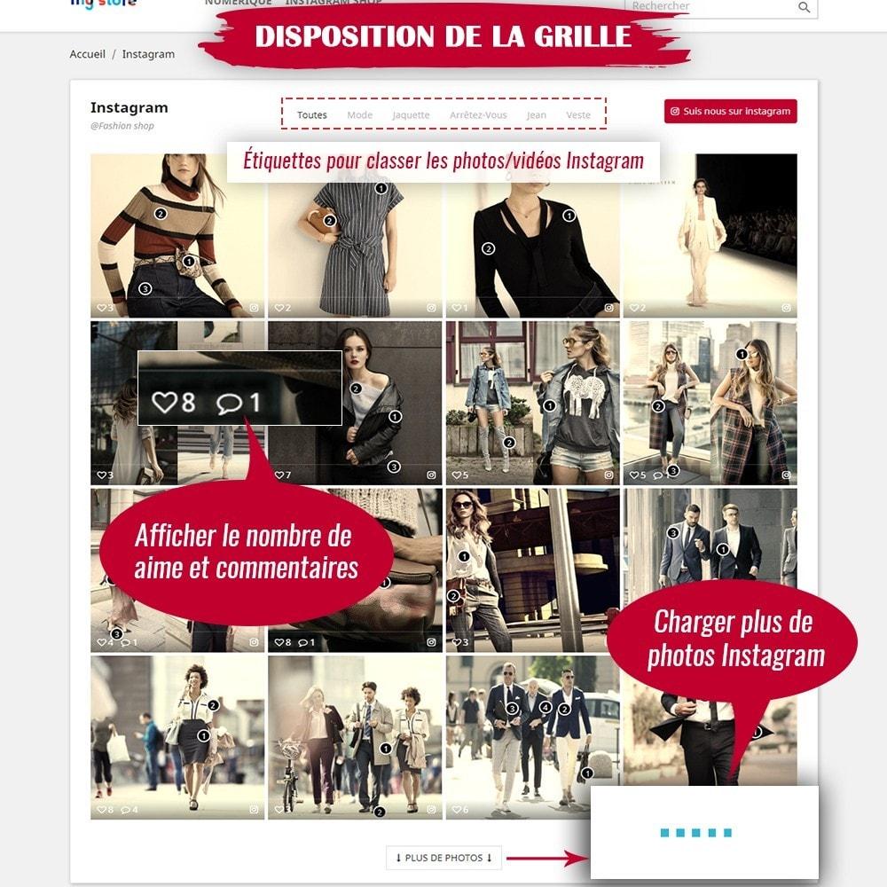 module - Sliders & Galeries - INS Shopping Slider - Intégration de réseau social - 5