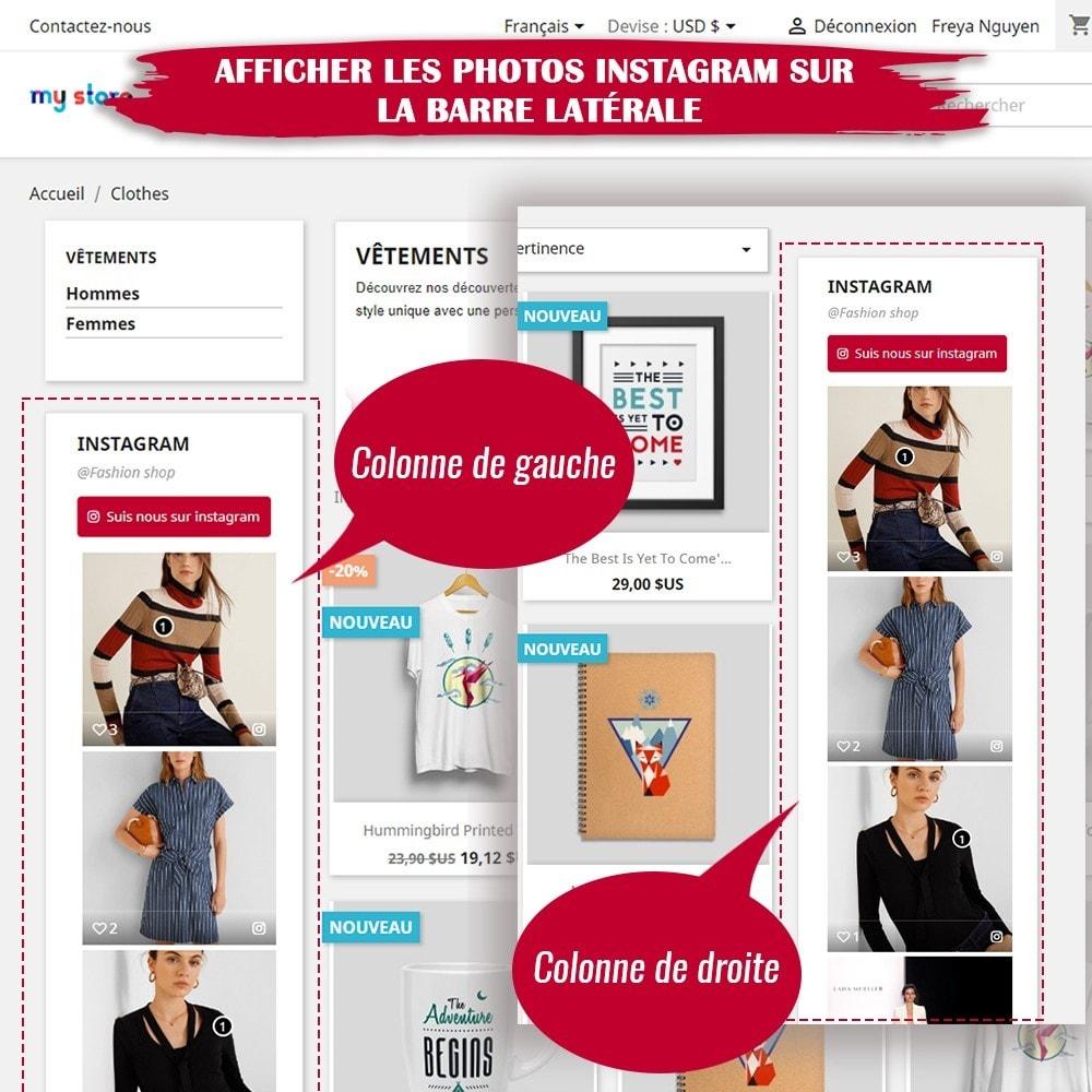 module - Sliders & Galeries - INS Shopping Slider - Intégration de réseau social - 9