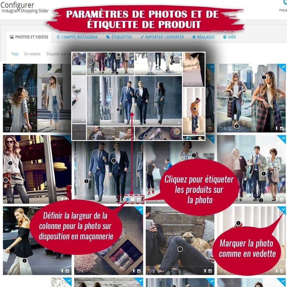 module - Sliders & Galeries - INS Shopping Slider - Intégration de réseau social - 11