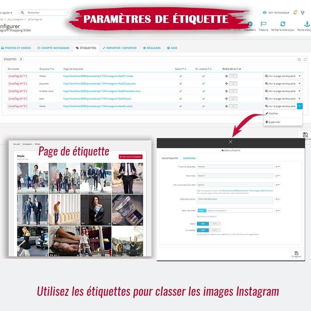 module - Sliders & Galeries - INS Shopping Slider - Intégration de réseau social - 13