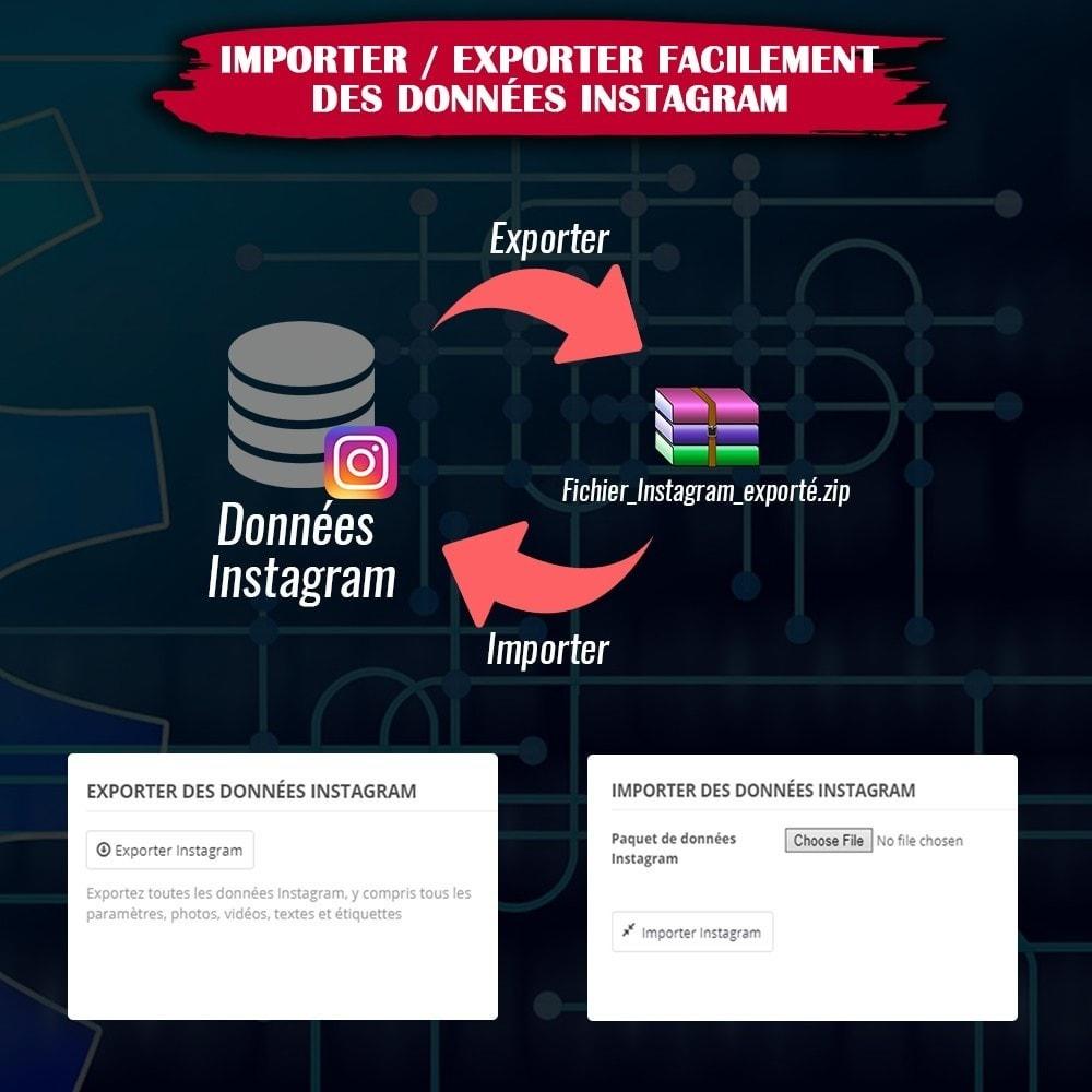 module - Sliders & Galeries - INS Shopping Slider - Intégration de réseau social - 17