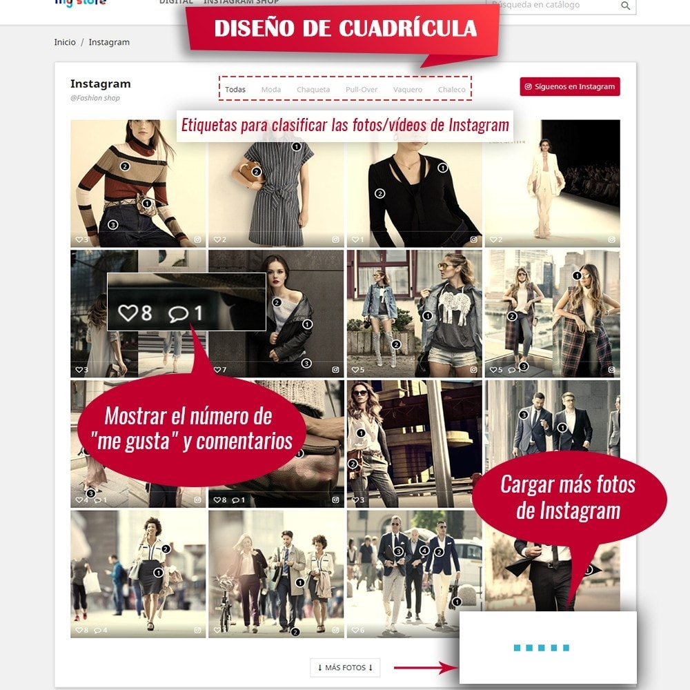 module - Sliders y Galerías de imágenes - INS Shopping Slider - Integración de redes sociale - 6