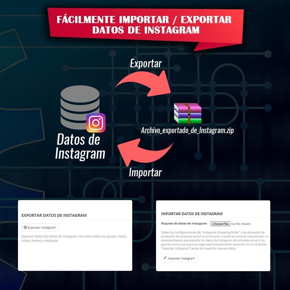 module - Sliders y Galerías de imágenes - INS Shopping Slider - Integración de redes sociale - 18