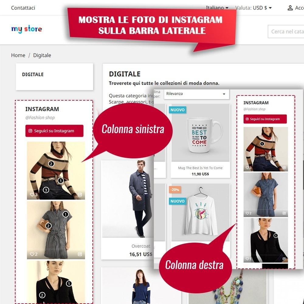 module - Slider & Gallerie - INS Shopping Slider - Integrazione social network - 9