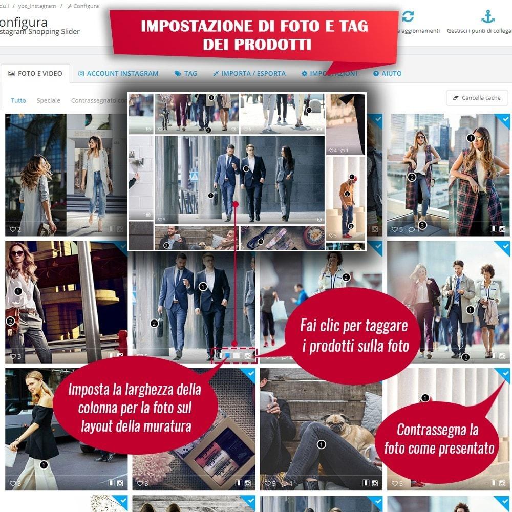 module - Slider & Gallerie - INS Shopping Slider - Integrazione social network - 11