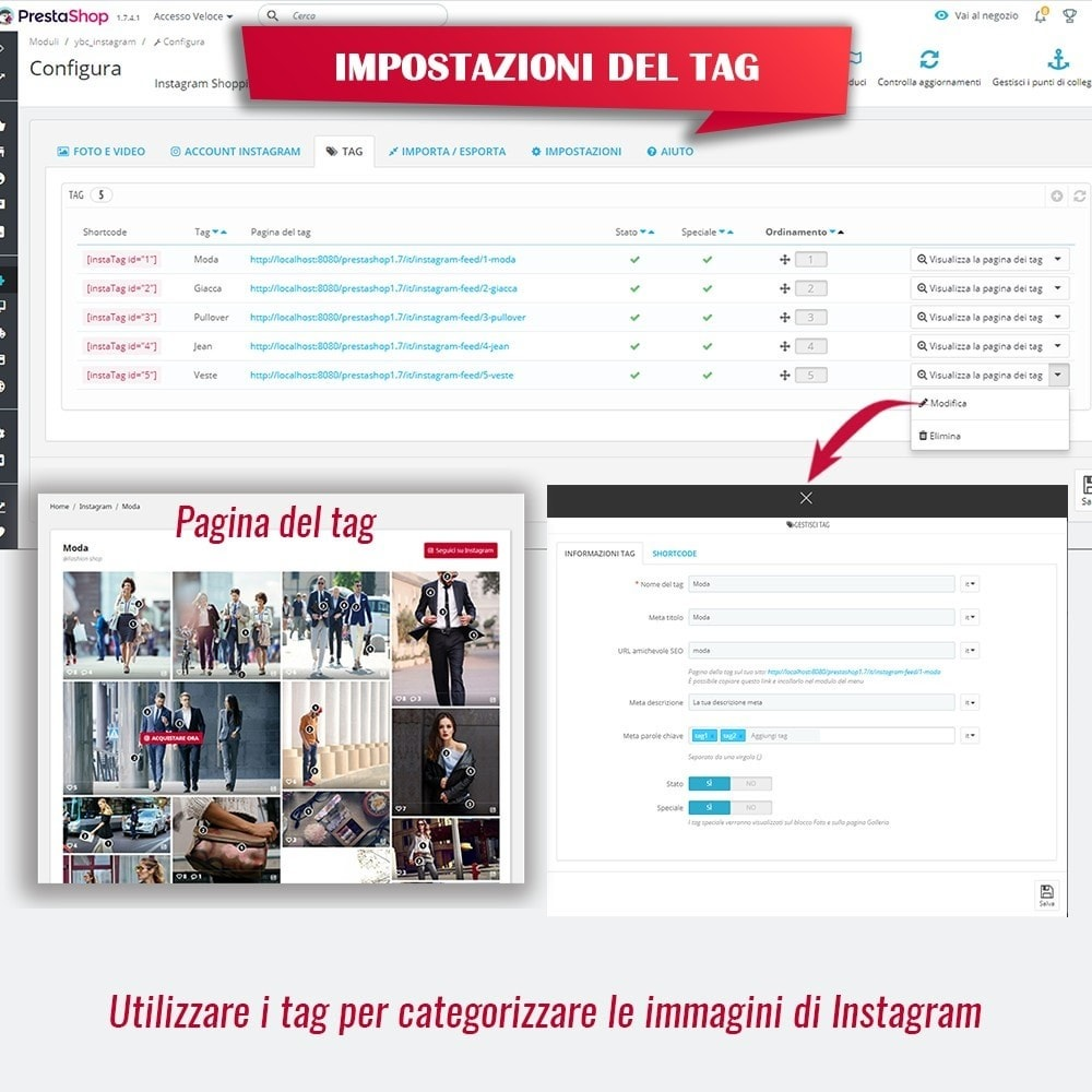 module - Slider & Gallerie - INS Shopping Slider - Integrazione social network - 13