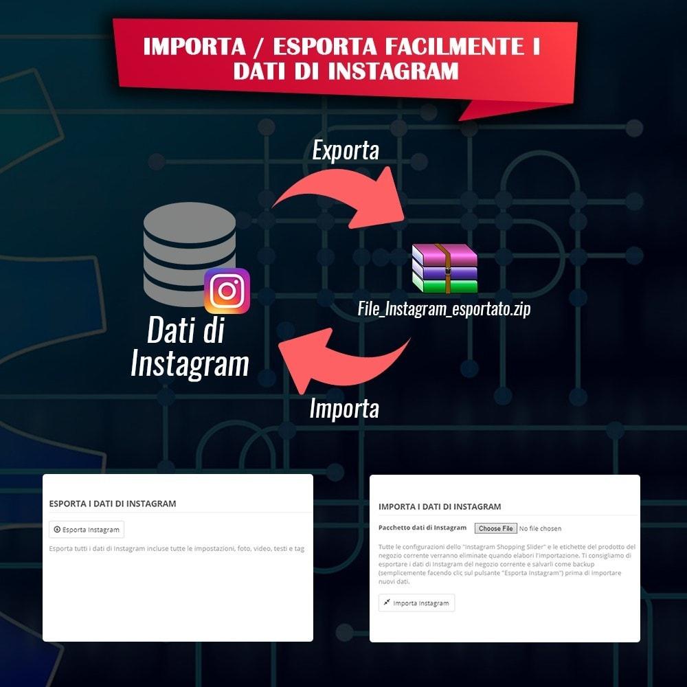 module - Slider & Gallerie - INS Shopping Slider - Integrazione social network - 17