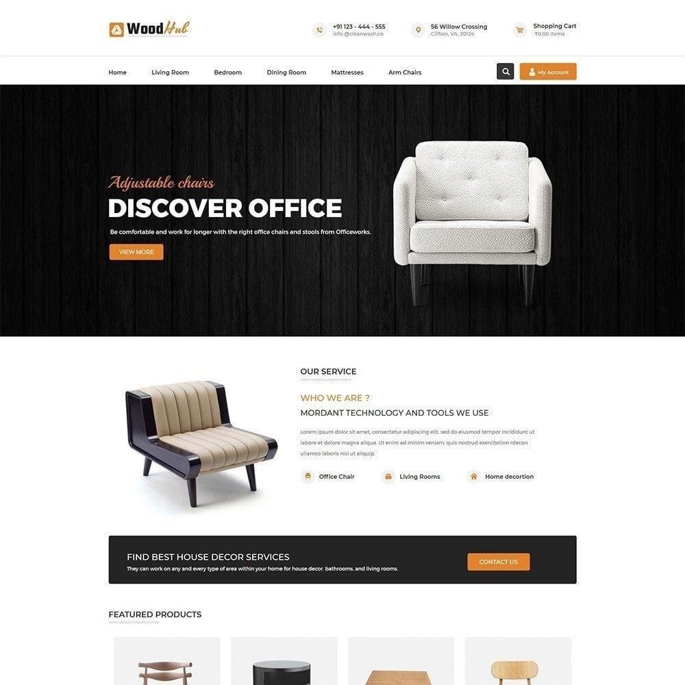 theme - Дом и сад - Wood Furniture - Магазин Дизайнер интерьера - 1