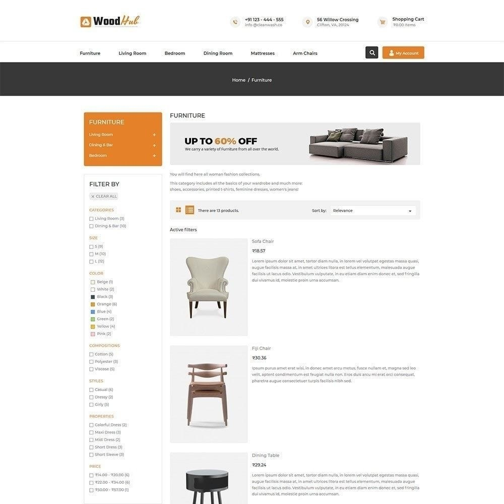 theme - Дом и сад - Wood Furniture - Магазин Дизайнер интерьера - 3