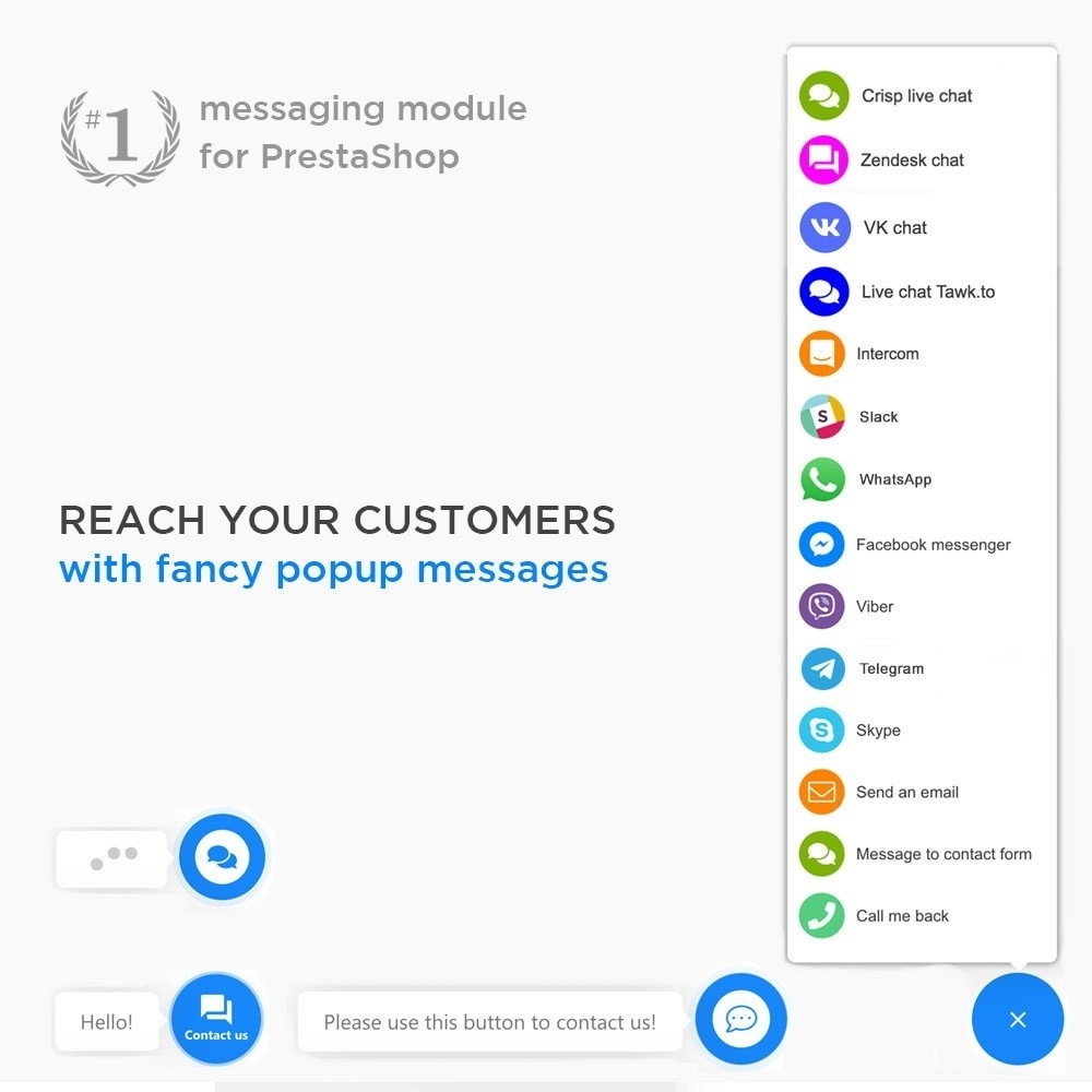 module - Support & Online Chat - All-in-One - Live Chat, WhatsApp, Call Back, Messenger - 2