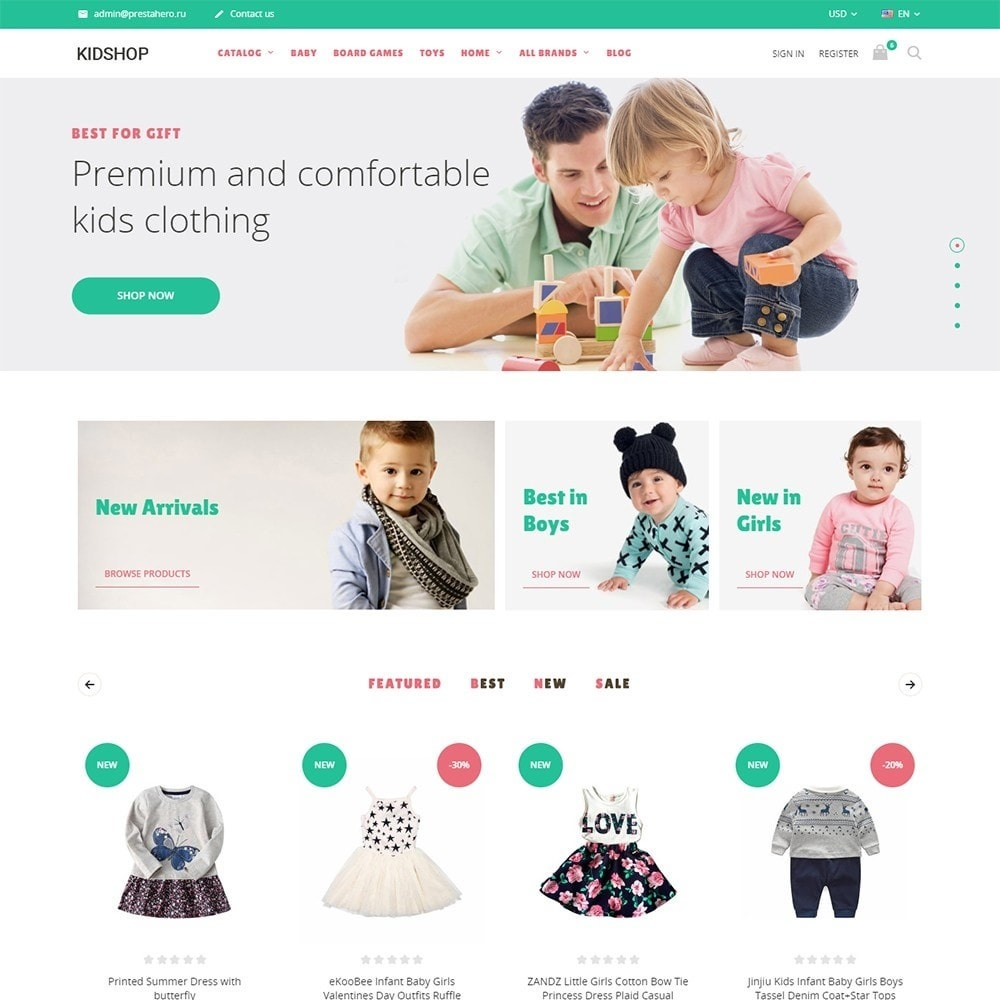 theme - Kids & Toys - KidsWear - Kids Clothes Store - 1