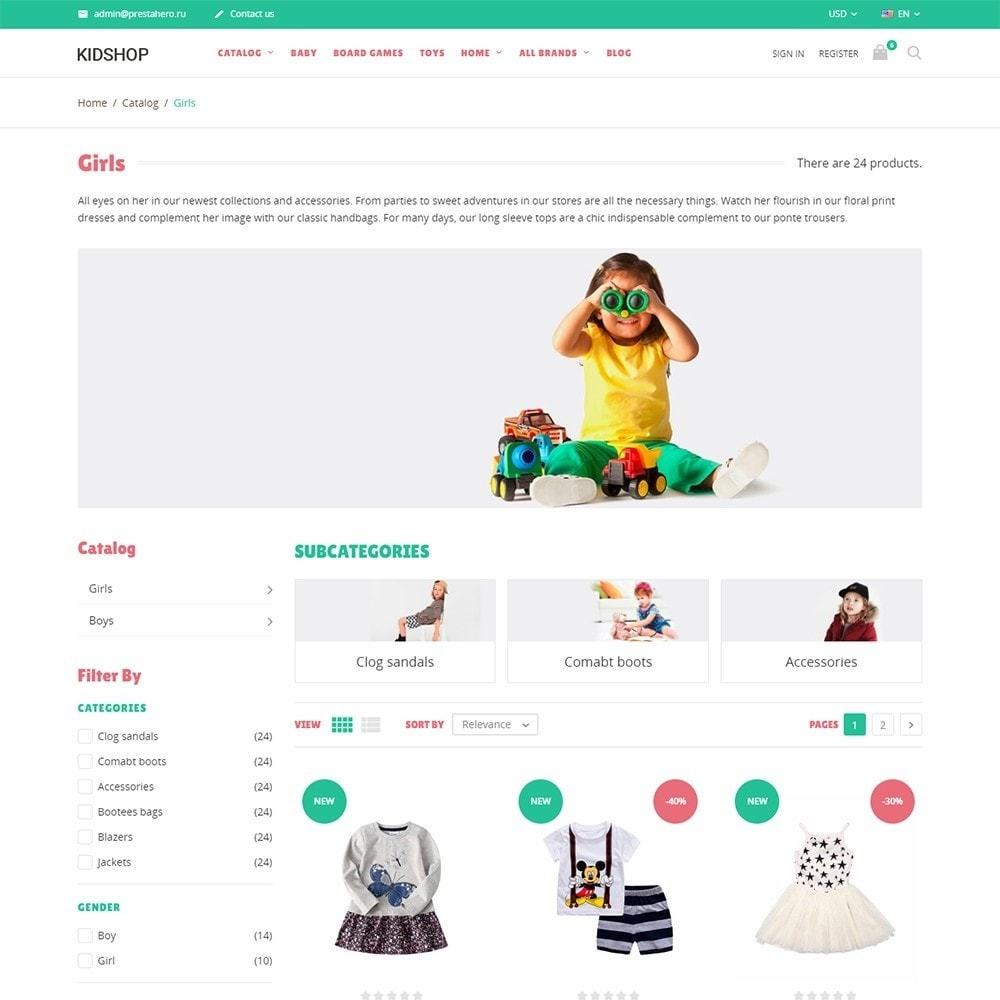 theme - Kids & Toys - KidsWear - Kids Clothes Store - 3