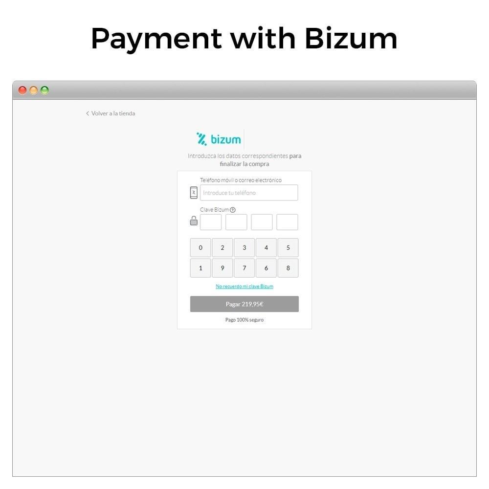 module - Paiement par Carte ou Wallet - Bizum - Mobile payment (with fees and discounts) - 3