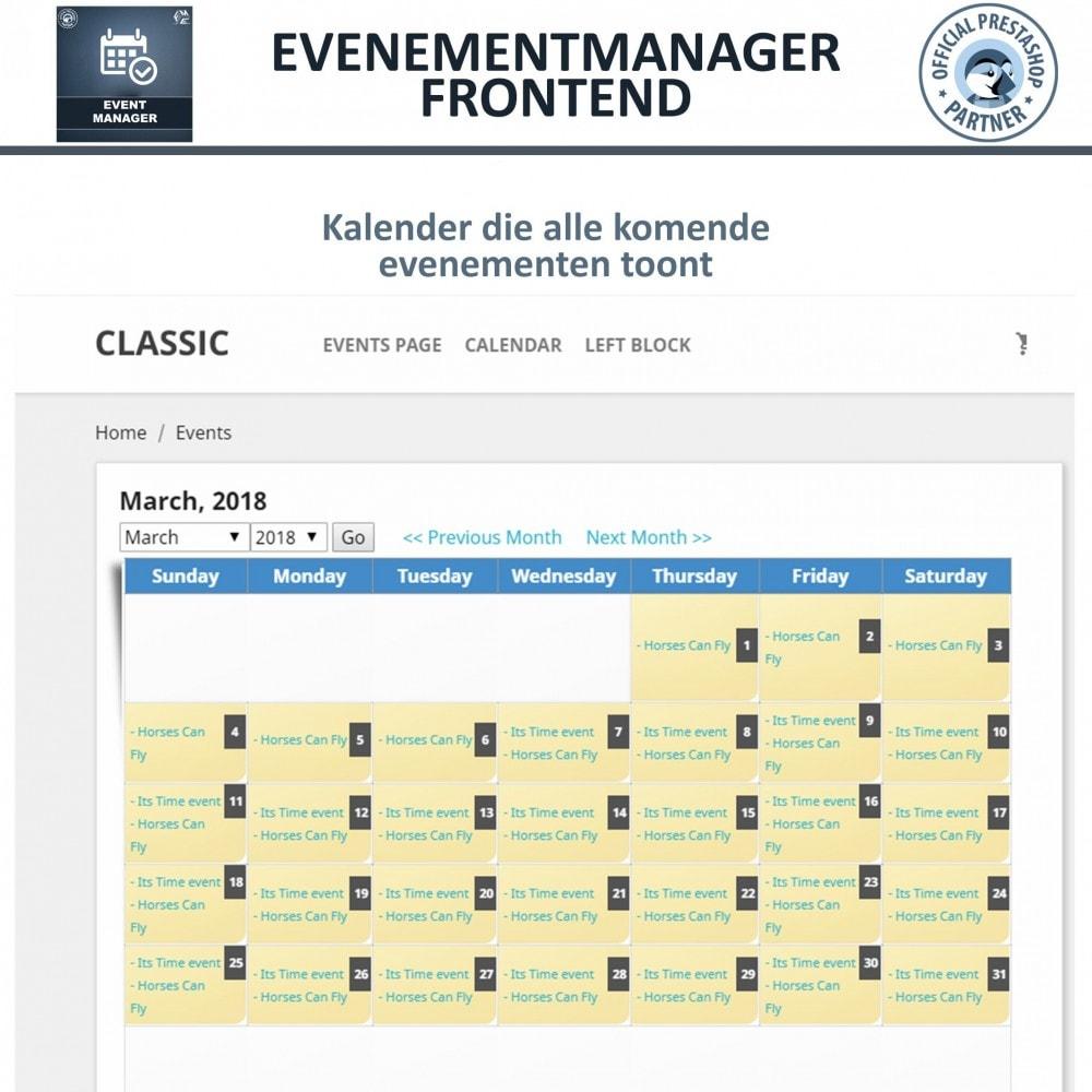 module - Verhuur en reserveringen - Evenementen Manager, Maak Evenementen en Verkoop Ticket - 7