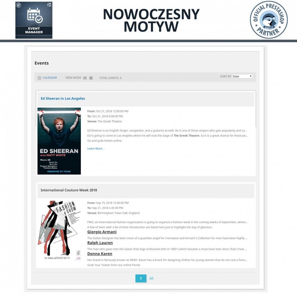module - Wynajmu i rezerwacji - Menadżer wydarzeń, Twórz Wydarzenia i Sprzedawaj Bilety - 2