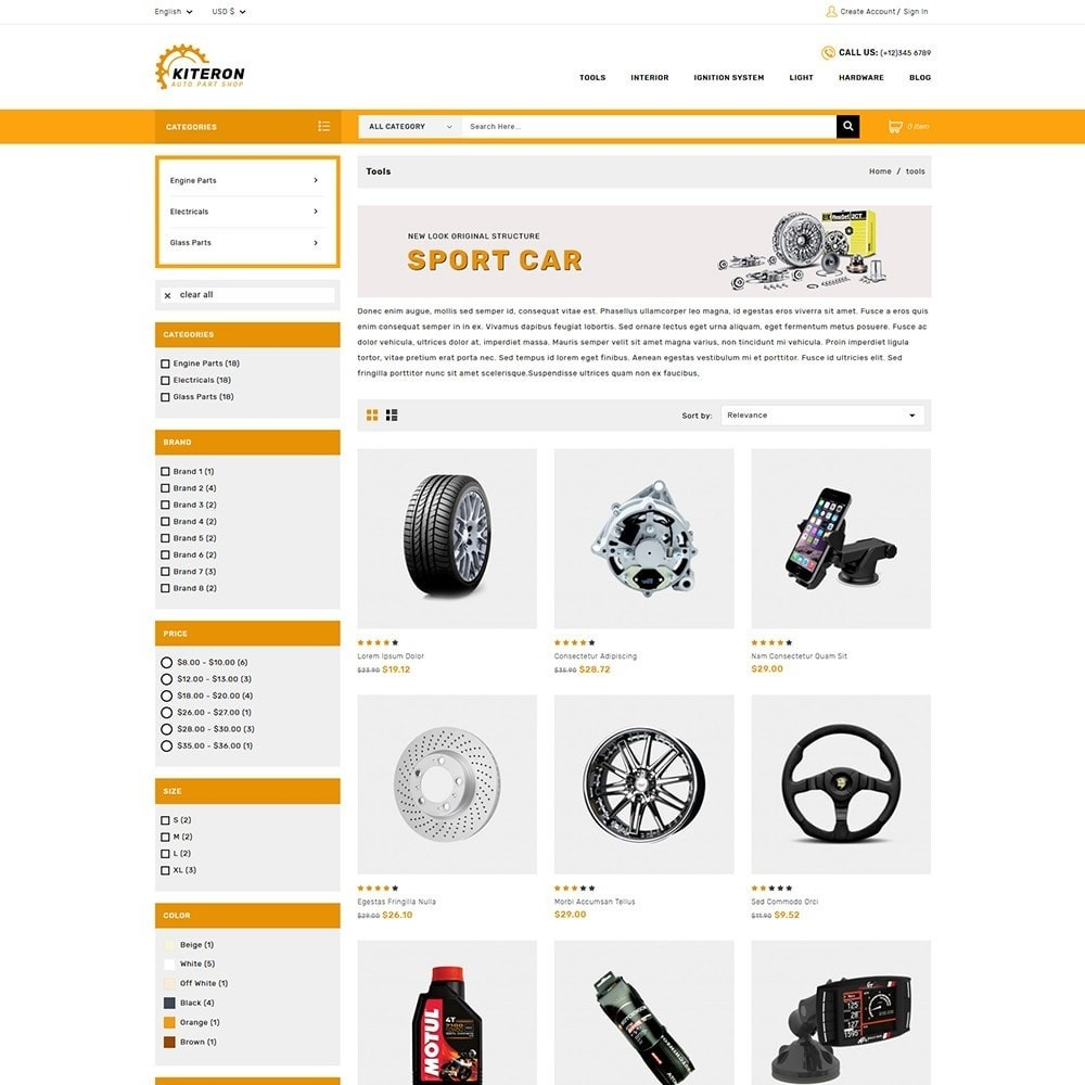theme - Coches y Motos - Kiteron Automotive & Cars Shop - 3