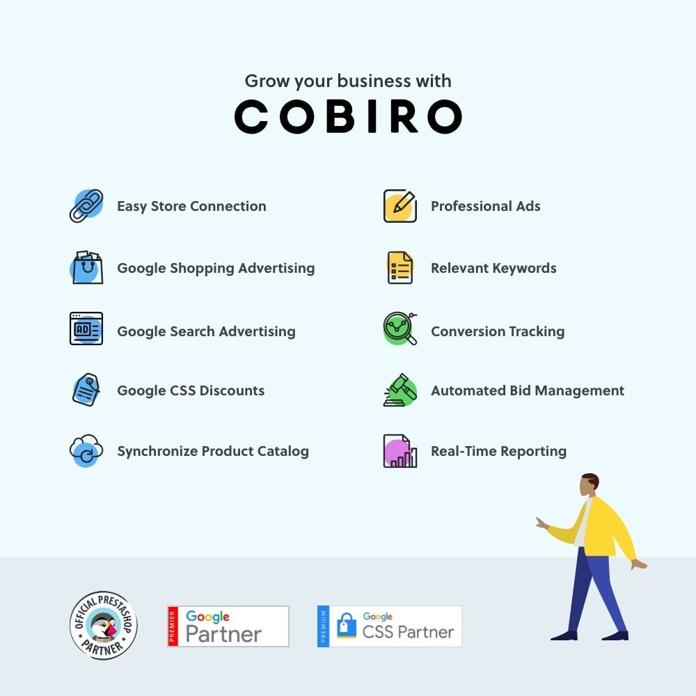 module - SEA SEM (paid advertising) & Affiliation Platforms - Automated Google Marketing - Get More Sales With Cobiro - 1