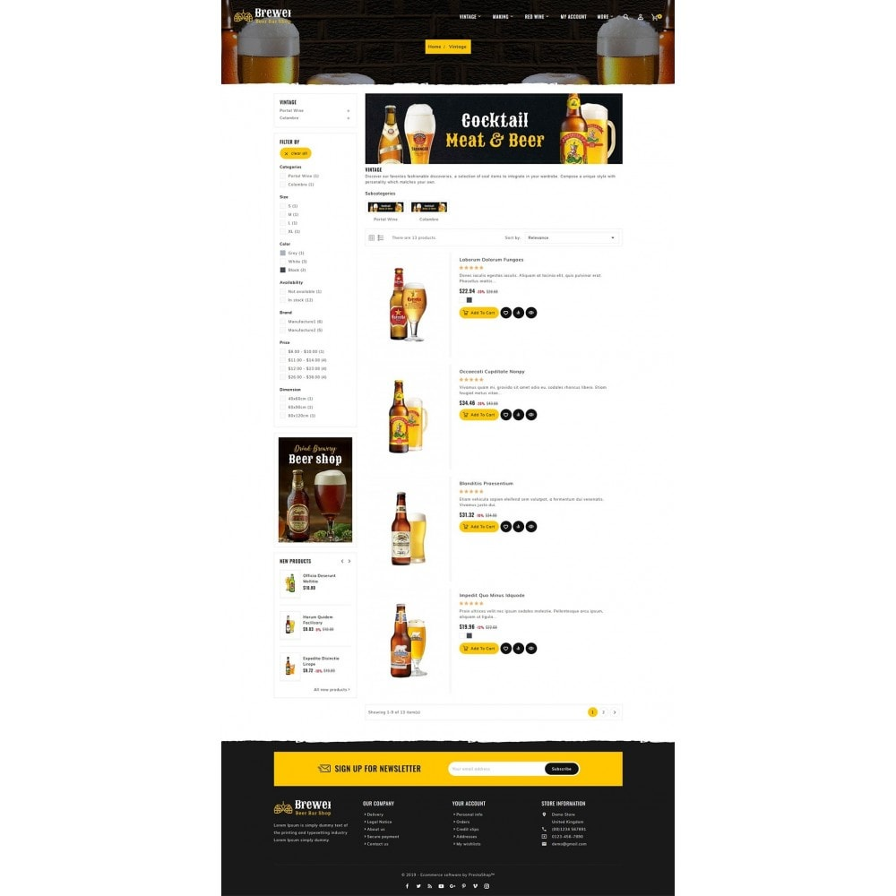 theme - Drink & Wine - Brewery - Beer Bar & Pub - 4