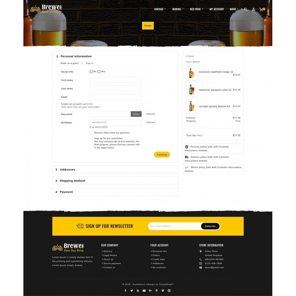 theme - Drink & Wine - Brewery - Beer Bar & Pub - 7