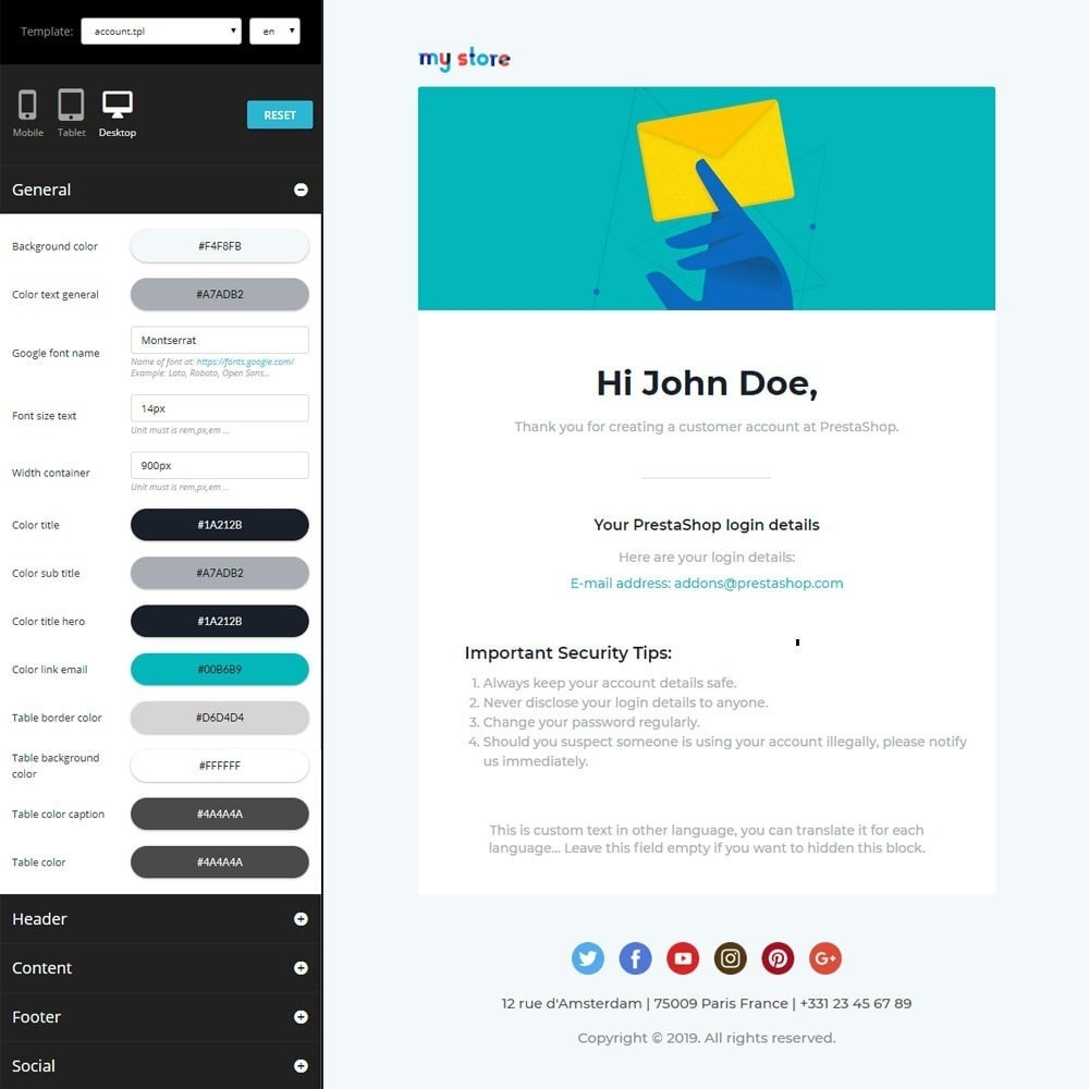 email - Email templates PrestaShop - Vic - Professional responsive Email Template - 2