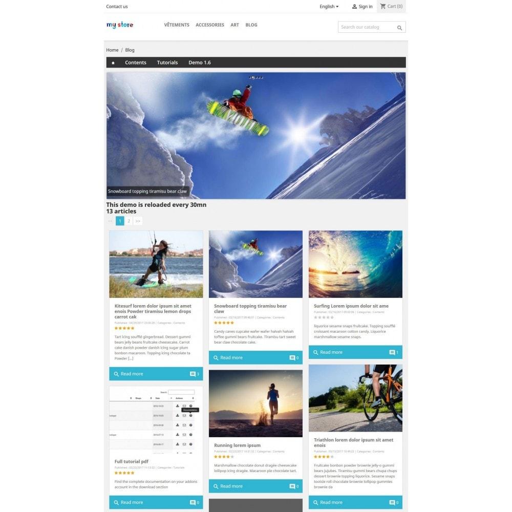 module - Blog, Forum & News - Professionelles Blog Modul - 5