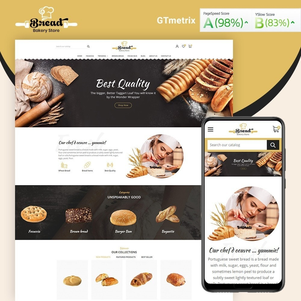 theme - Alimentation & Restauration - Bread bakery Store - 1